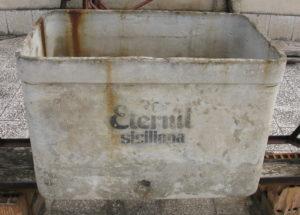 Cassa di acqua prodotta da Eternit siciliana