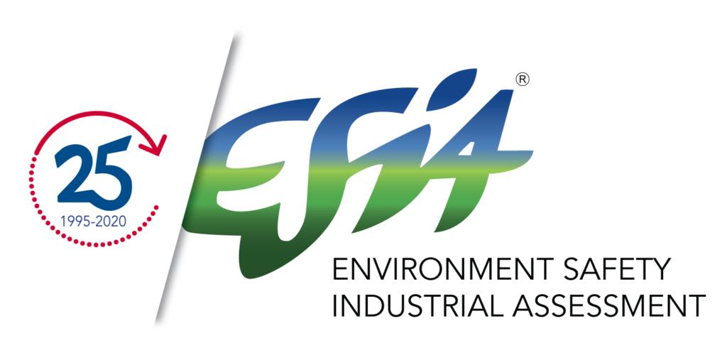 Il nuovo logo di Esia per festeggiare i 25 anni di attività.