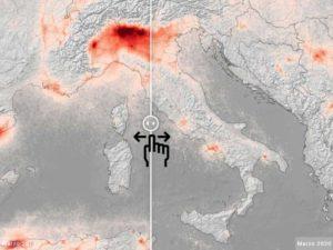 Confronto tra l'inquinamento atmosferico in Italia prima e dopo il coronavirus